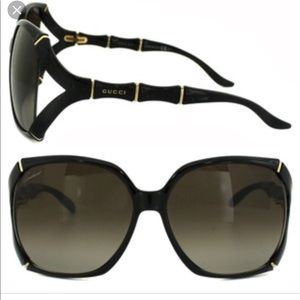 Black bamboo Gucci sunglasses